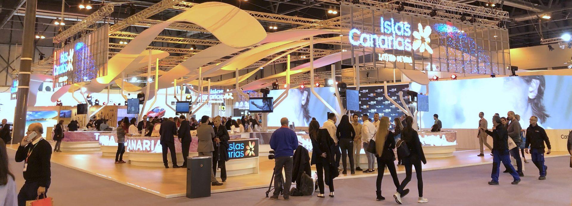 Panorámica del stand de Canarias en FITUR 2019