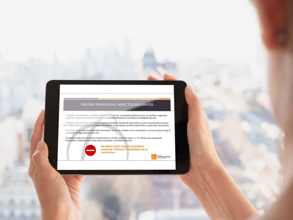 Consulta de medidas de prevención y protección ante COVID-19 de Grupo Innovaris