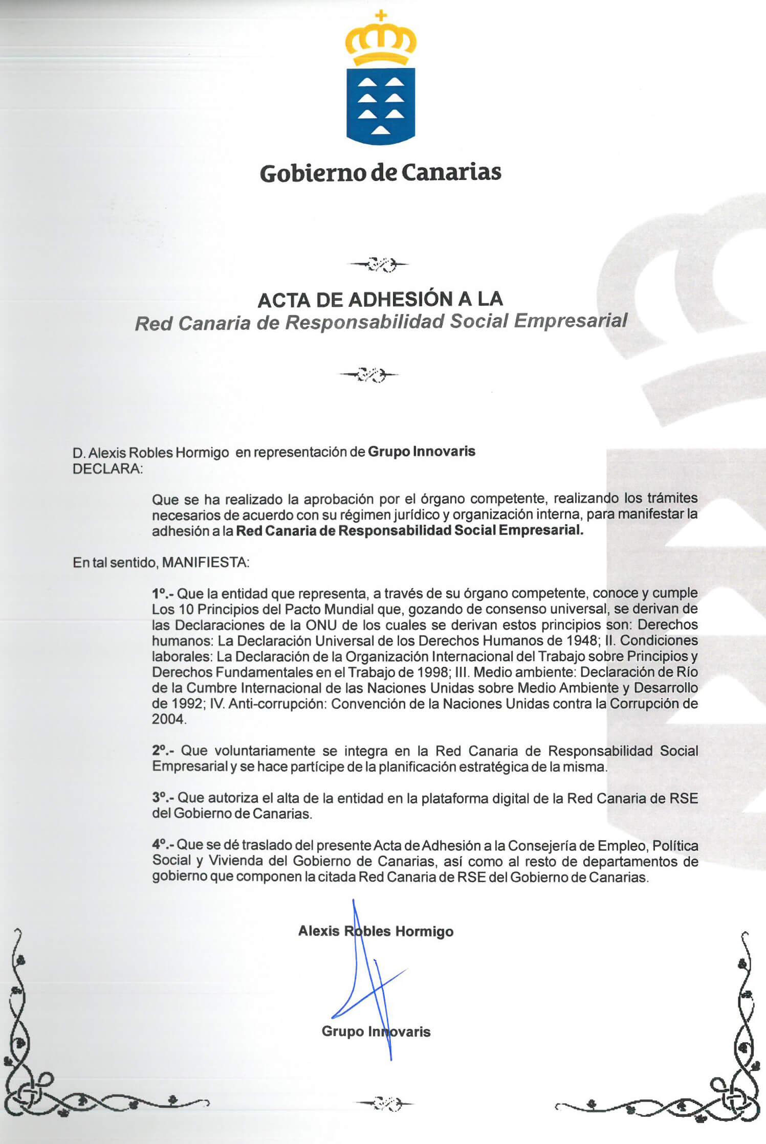 Adhesión Canarias RSE