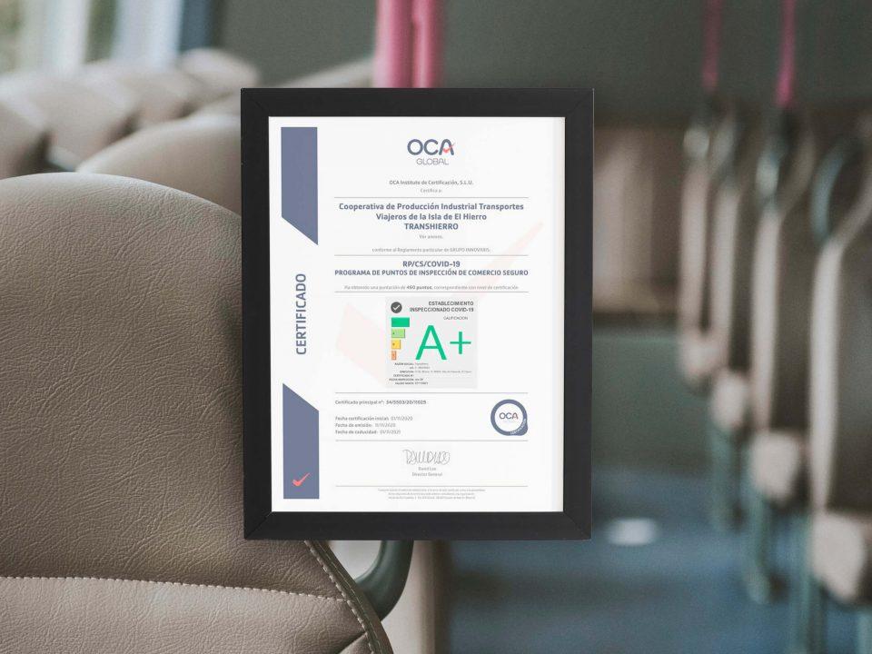 TransHierro obtiene la certificación del Sello de Establecimiento Seguro ante COVID-19
